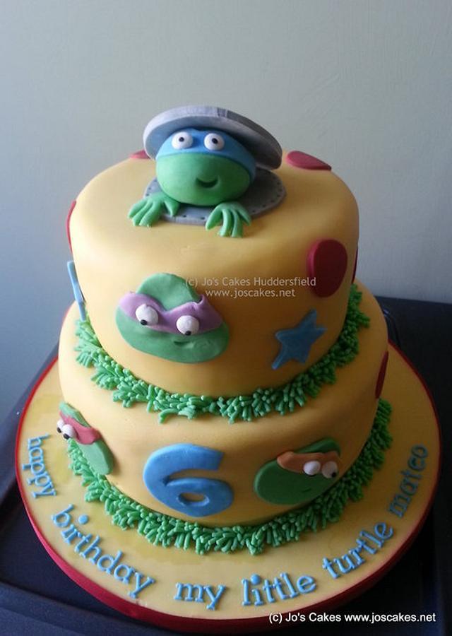 Teenage Mutant Ninja Turtles TMNT Birthday Cake