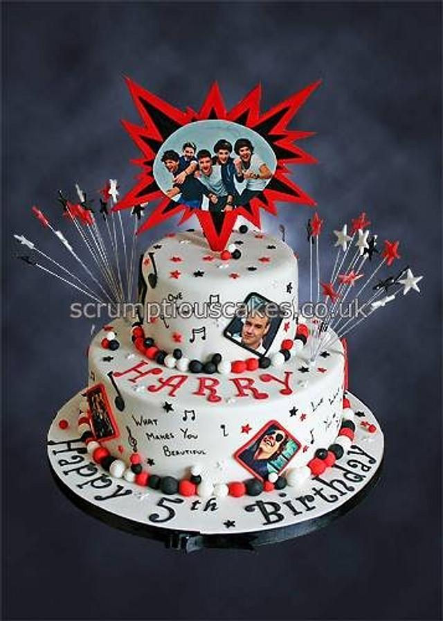 Pleasing One Direction Birthday Cake Cake By Scrumptious Cakes Cakesdecor Funny Birthday Cards Online Elaedamsfinfo