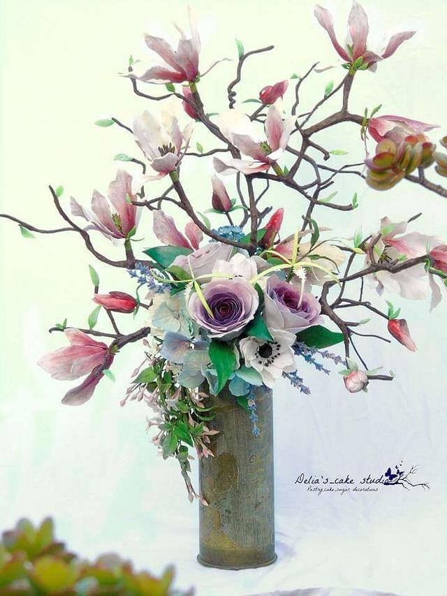 World Cancer Day Sugar flowers and cakes in bloom collaboration