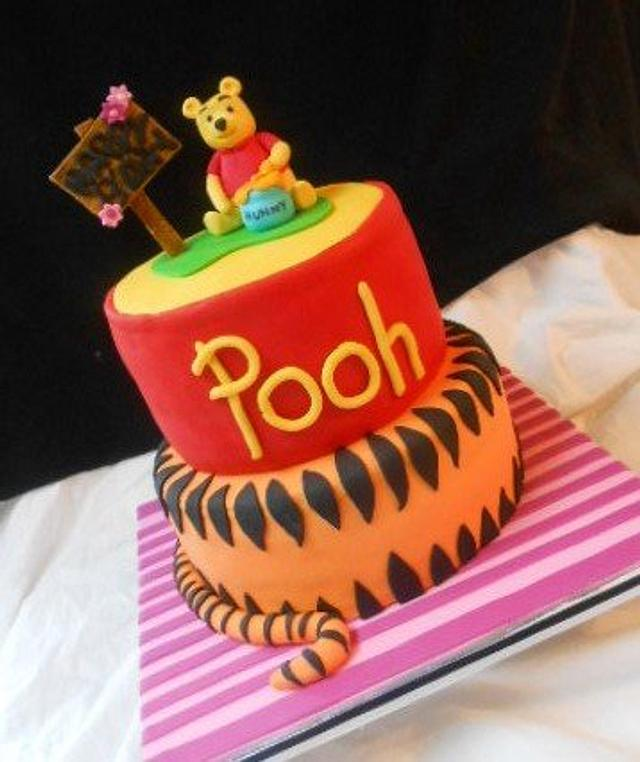 Remarkable Winnie The Pooh Birthday Cake Cake By Heather369 Cakesdecor Funny Birthday Cards Online Alyptdamsfinfo