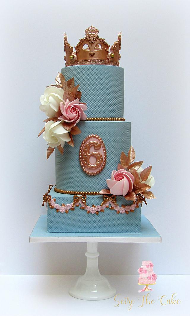 Marvelous Crown Birthday Cake Cake By Seize The Cake Cakesdecor Funny Birthday Cards Online Elaedamsfinfo