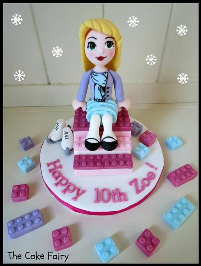 Outstanding Lego Friends Ice Skating Cake Topper Cake By Renee Daly Cakesdecor Funny Birthday Cards Online Overcheapnameinfo