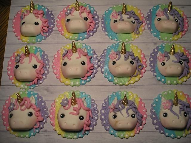 Cute mermaid and unicorn toppers