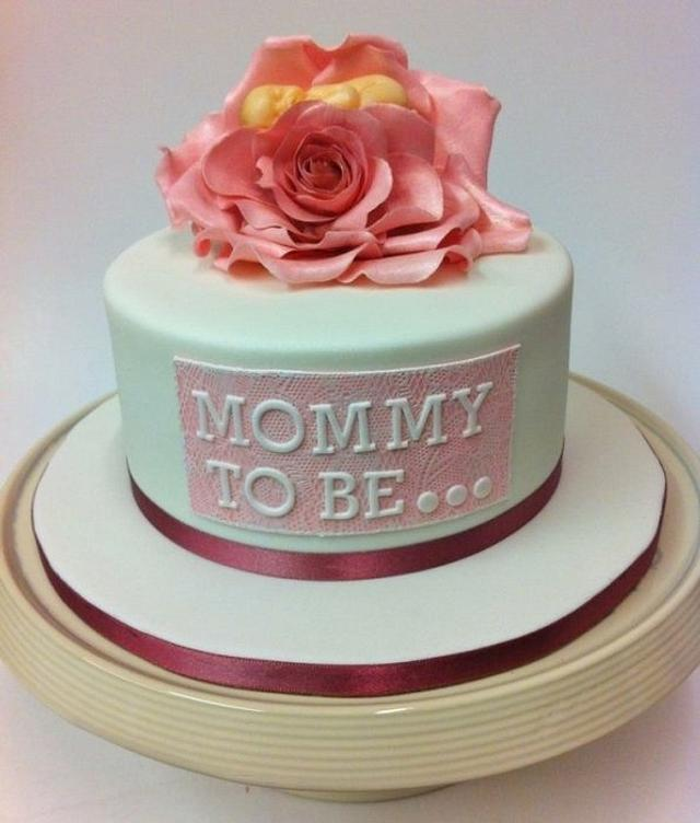 Baby in a Rose Baby Shower