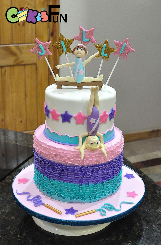 Remarkable Gymnastics Birthday Cake Cake By Cakes For Fun Cakesdecor Personalised Birthday Cards Paralily Jamesorg