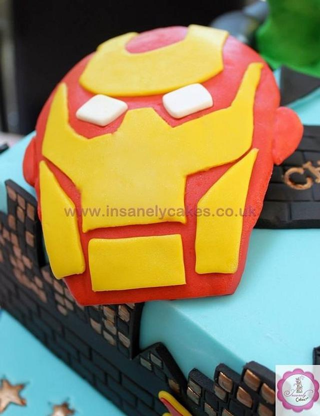 Super Heroes Celebration Cake!
