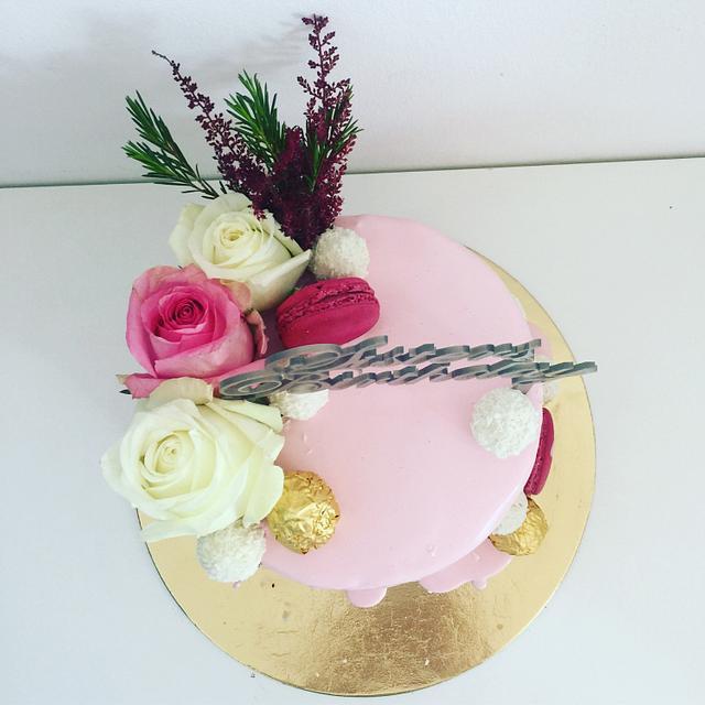 Dripping Birthday cake
