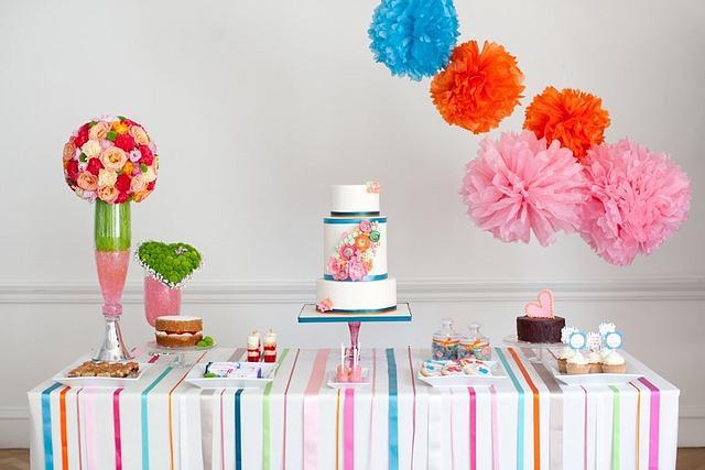 Bright Dessert table