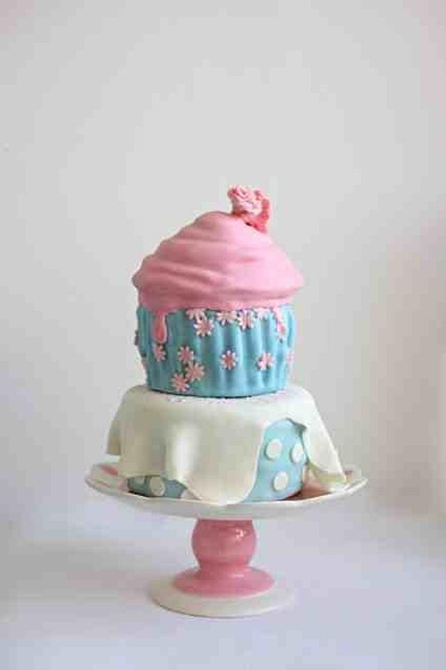 Giant Cupcake on an 8 inch 'table.'