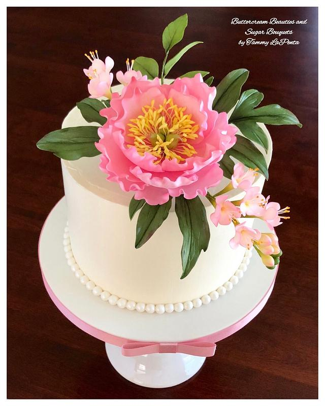 ~ Blooming Peony Celebration Cake ~