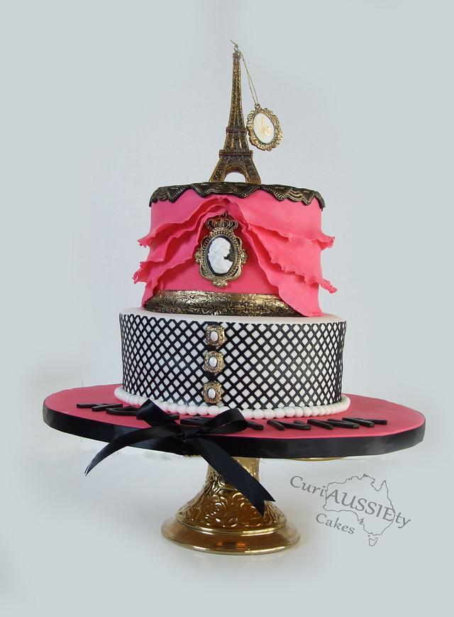 """Sweet 16 """"Paris"""" cake"""