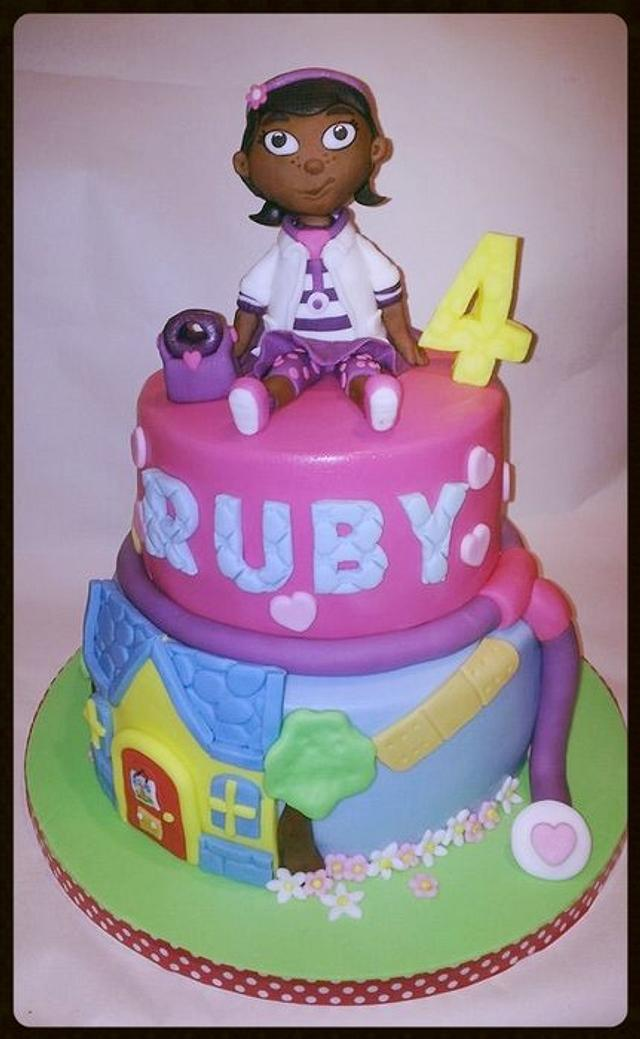 Brilliant Dr Mcstuffins Cake By Time For Tiffin Cakesdecor Funny Birthday Cards Online Eattedamsfinfo