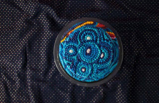 Blue Pointillism