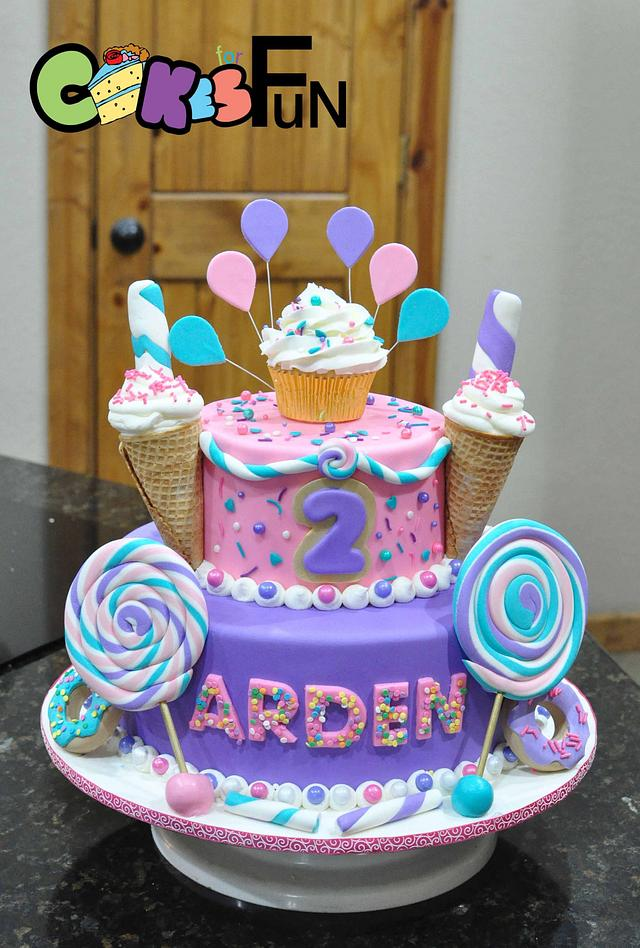 2 Sweet Cake By Cakes For Fun Cakesdecor