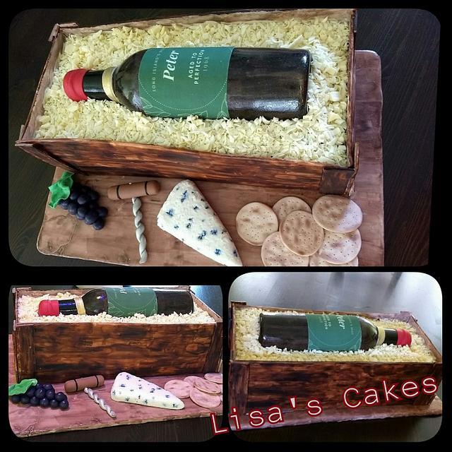 Fantastic Wine Crate Birthday Cake Cake By Lisa Cakesdecor Funny Birthday Cards Online Unhofree Goldxyz