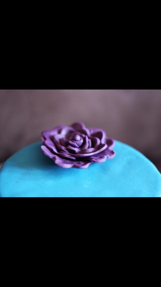 The blue velvet rosette
