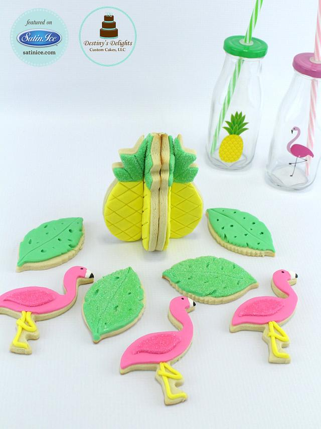 Stand up Pineapple Cookies