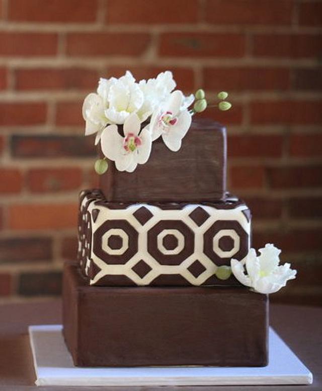 Modern Square Wedding Cake