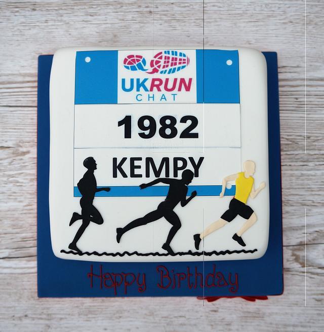 Running Man Cake