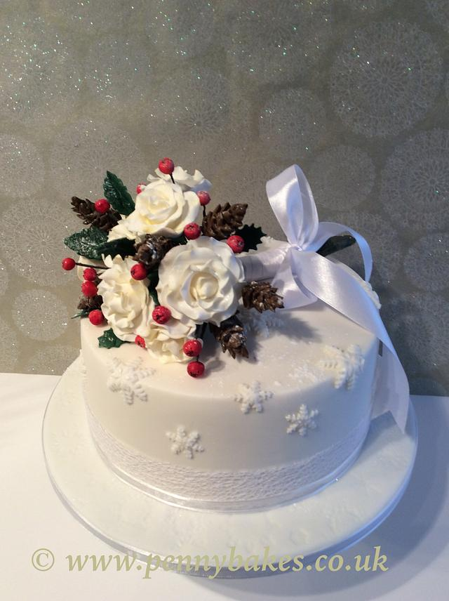Bouquet anniversary cake