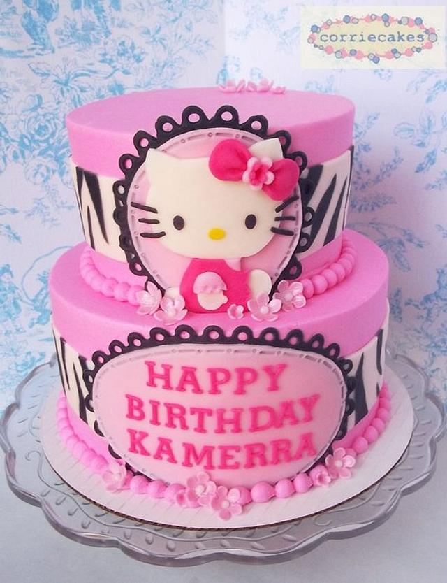 Pink and Zebra Hello Kitty