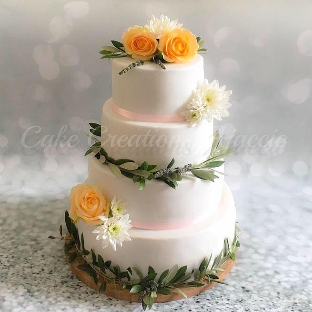Provence wedding cake
