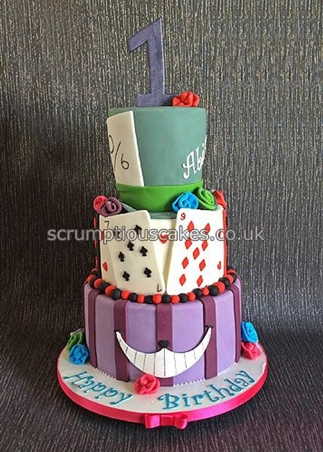 Wondrous Alice In Wonderland Themed Birthday Cake Cake By Cakesdecor Personalised Birthday Cards Cominlily Jamesorg