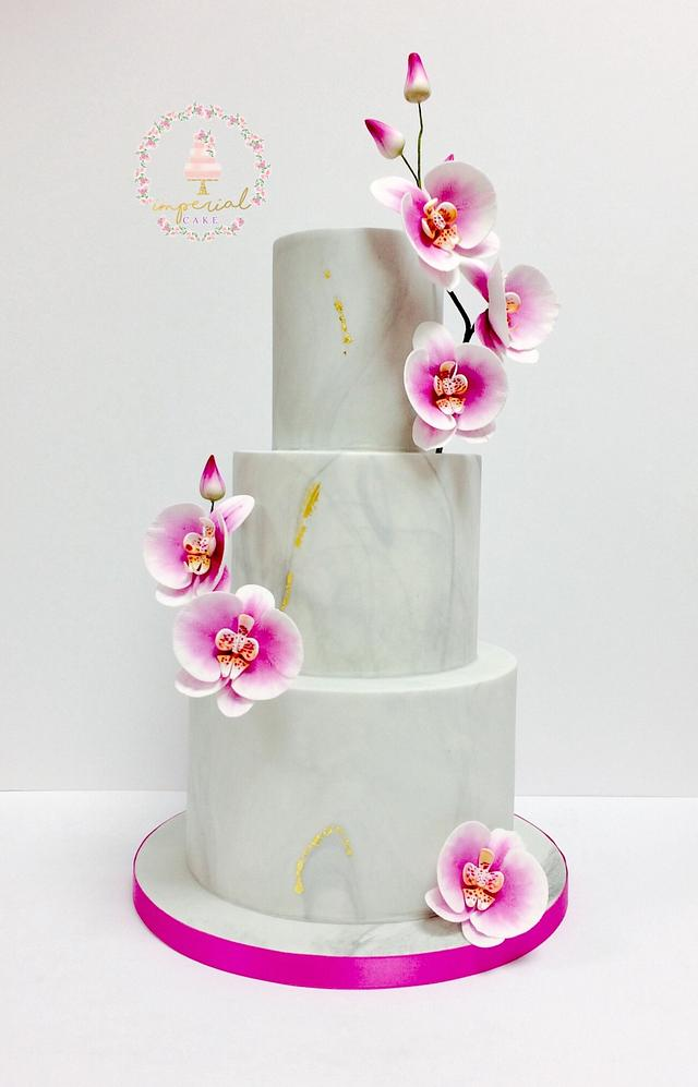Marble and orchid