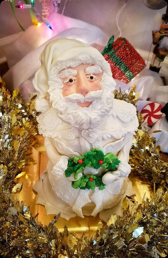 Old fashioned Santa Cake