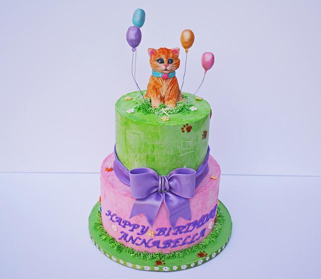 Cat themed birthday cake!