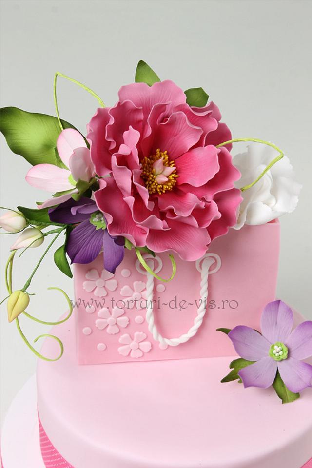 Cool Happy Birthday Gift Cake Cake By Viorica Dinu Cakesdecor Funny Birthday Cards Online Alyptdamsfinfo