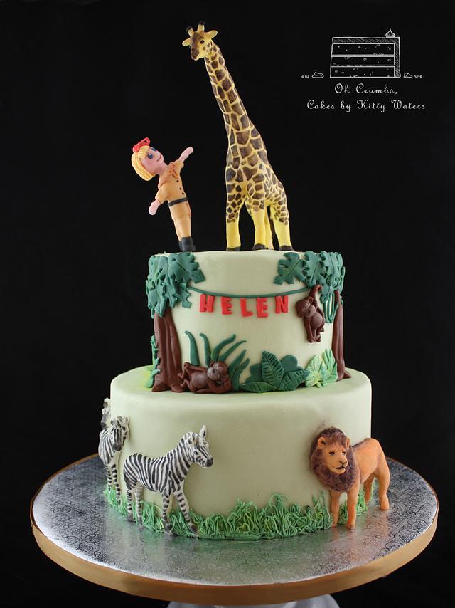 Prime Zoo Birthday Cake Cake By Ohcrumbs Cakesdecor Funny Birthday Cards Online Amentibdeldamsfinfo