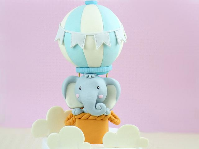 hot air balloon cake topper