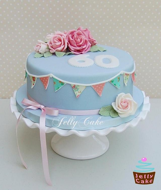 Surprising Cath Kidston Vintage Birthday Cake Cake By Jellycake Cakesdecor Funny Birthday Cards Online Fluifree Goldxyz