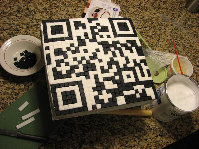QR Code Birthday Cake for Technology Geek