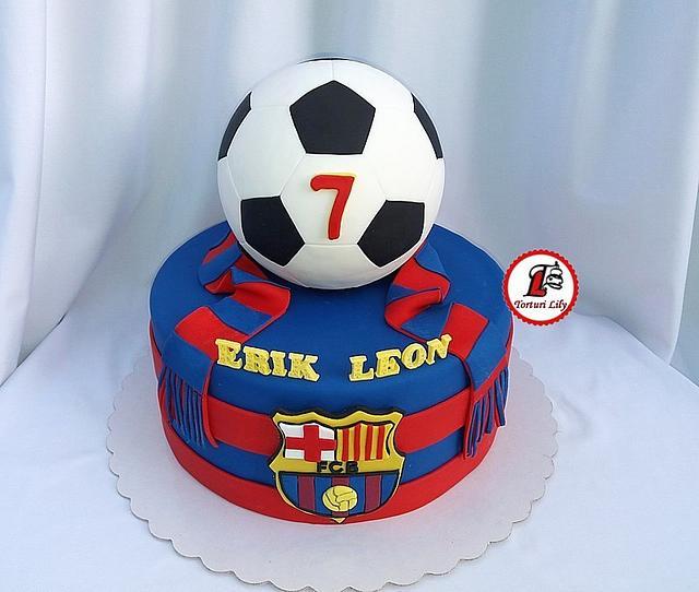 Fc Barcelona Soccer Cake Cake By Lacrimioara Lily Cakesdecor