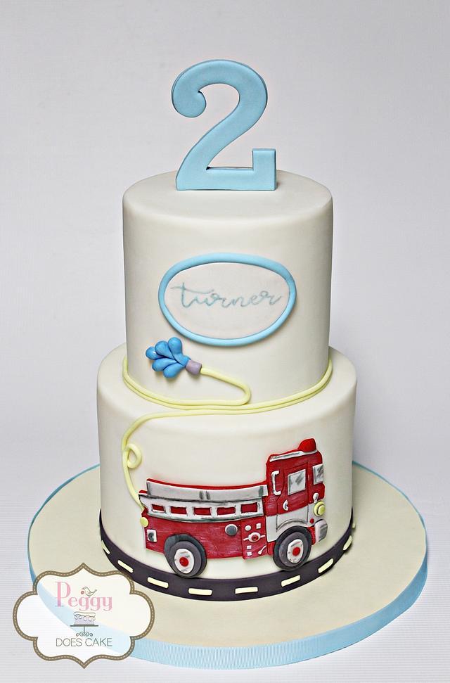 Fantastic Firetruck Birthday Cake Cake By Peggy Does Cake Cakesdecor Birthday Cards Printable Benkemecafe Filternl