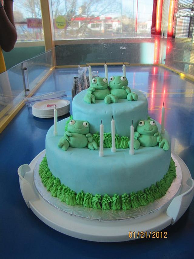 Froggie Birthday Cake