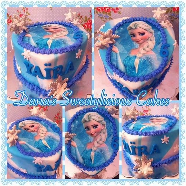 Frozen elsa heart cake