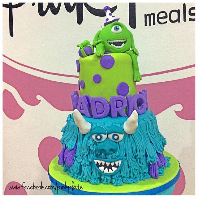 Groovy Monster University Cake Cake By Pink Plate Meals And Cakesdecor Personalised Birthday Cards Epsylily Jamesorg