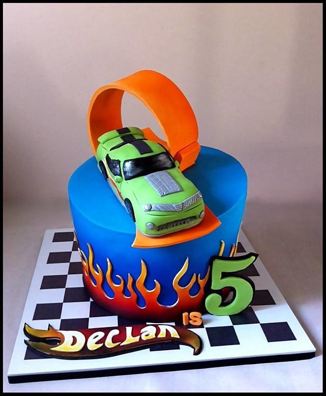 Fine Hot Wheels Birthday Cake By Dream Cakes By Robyn Cakesdecor Funny Birthday Cards Online Alyptdamsfinfo