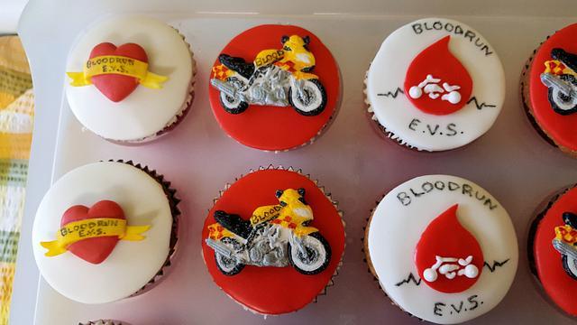 Bloodrun Bikers Emergency Voluntary Service Cupcakes