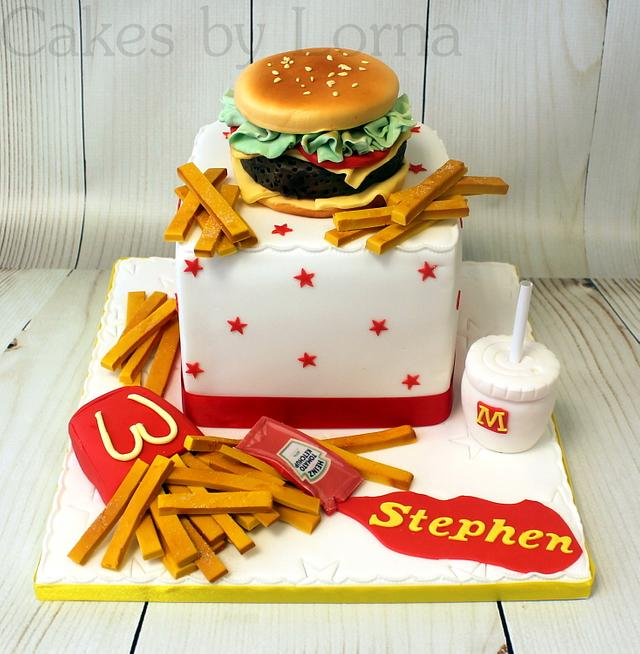 Admirable Mcdonalds Big Tasty Burger Birthday Cake Cake By Cakesdecor Birthday Cards Printable Nowaargucafe Filternl