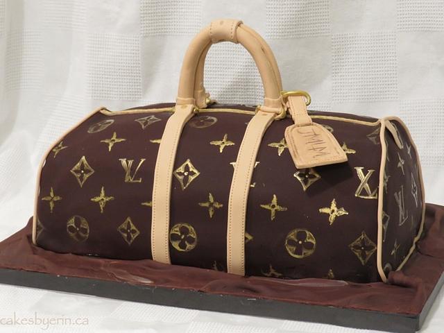 A Louis Vuitton Bag Birthday Cake
