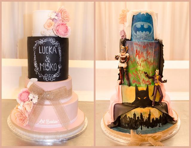 Two Sided Wedding Cake