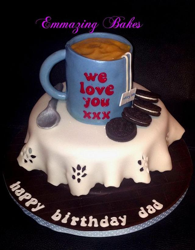 Mug of tea cake