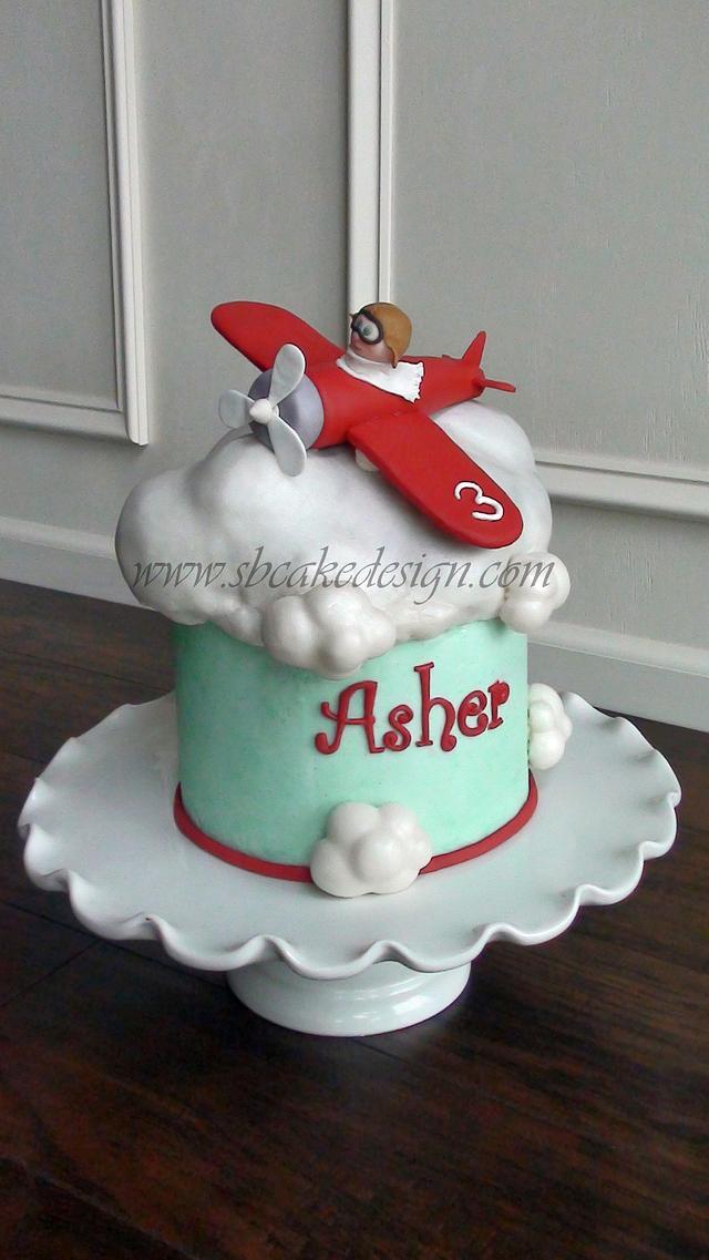 Marvelous Airplane Birthday Cake Cake By Shannon Bond Cake Design Cakesdecor Funny Birthday Cards Online Alyptdamsfinfo