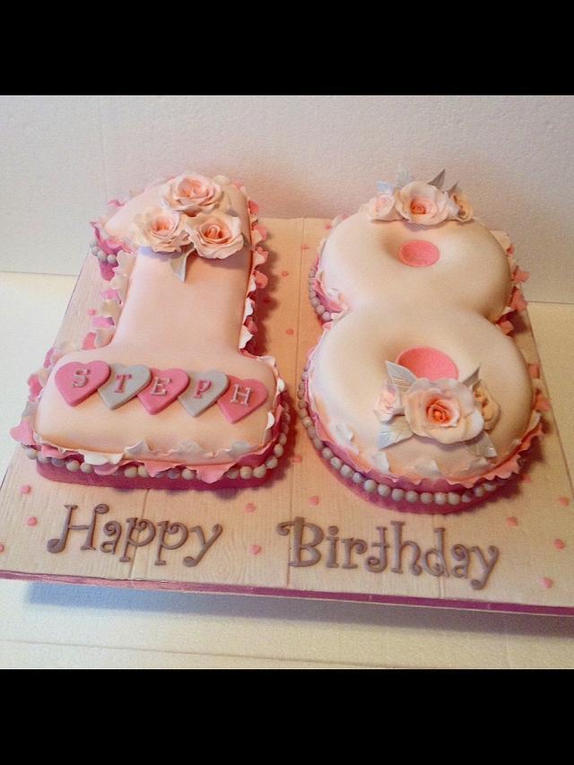 Prime Number 18 Cake Cake By Jing14 Cakesdecor Funny Birthday Cards Online Inifodamsfinfo
