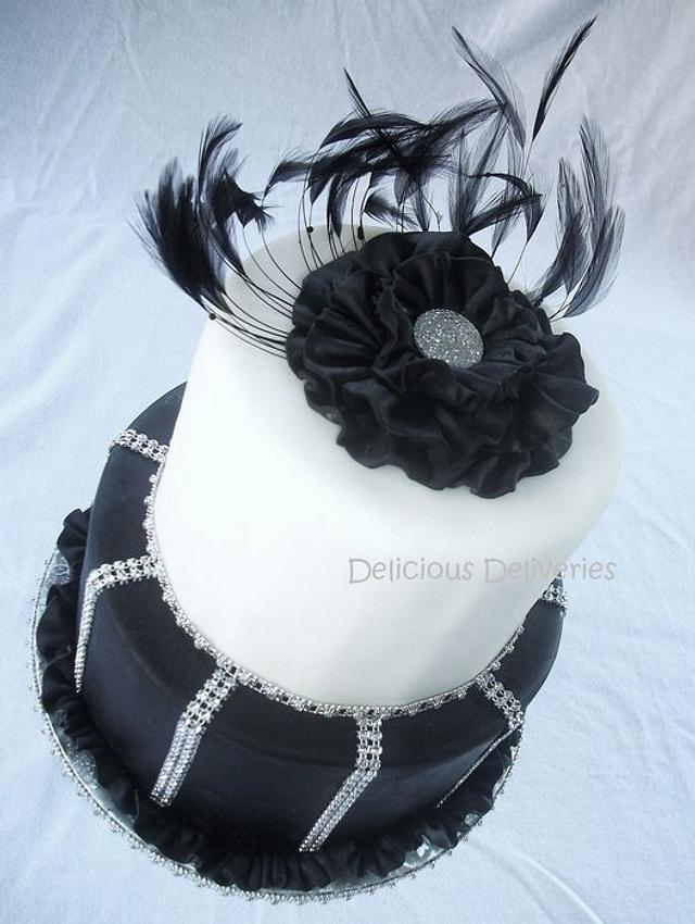 Elegant Ruffled Flower Cake