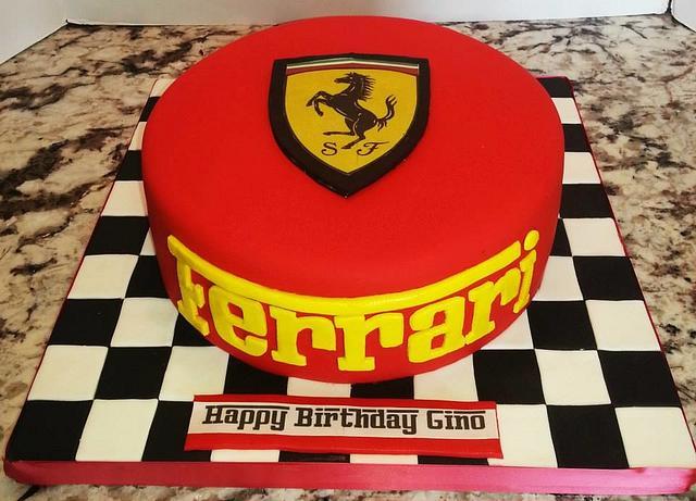 Super Ferrari Birthday Cake Cake By Enza Sweet E Cakesdecor Funny Birthday Cards Online Ioscodamsfinfo